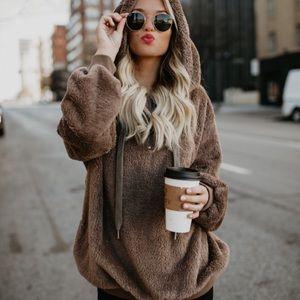 Fluffy Pullover Jacket